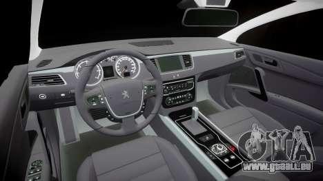 Peugeot 508 v1.2 pour GTA 4 est une vue de l'intérieur