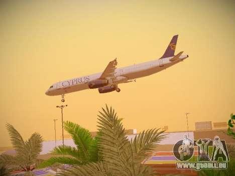 Airbus A321-232 Cyprus Airways pour GTA San Andreas vue de dessous