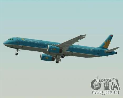 Airbus A321-200 Vietnam Airlines pour GTA San Andreas vue de côté
