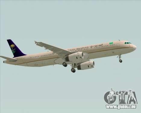 Airbus A321-200 Saudi Arabian Airlines für GTA San Andreas Rückansicht