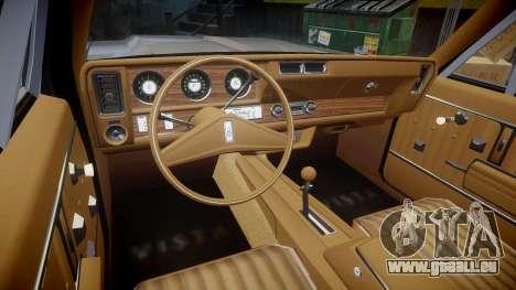 Oldsmobile Vista Cruiser 1972 Rims1 Tree5 pour GTA 4 Vue arrière