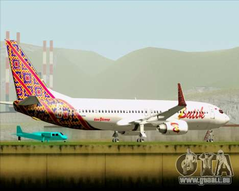 Boeing 737-800 Batik Air für GTA San Andreas obere Ansicht