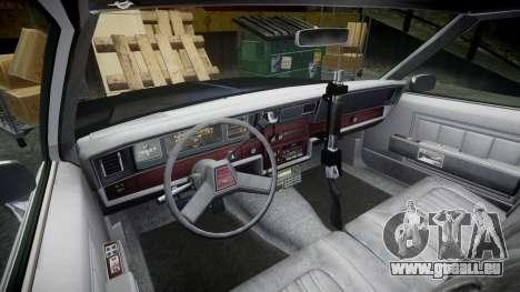 Chevrolet Impala 1985 LAPD [ELS] pour GTA 4 Vue arrière