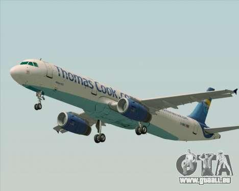 Airbus A321-200 Thomas Cook Airlines pour GTA San Andreas vue intérieure