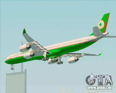 Airbus A340-600 EVA Air für GTA San Andreas Rückansicht