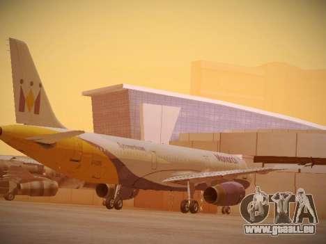 Airbus A321-232 Monarch Airlines für GTA San Andreas rechten Ansicht