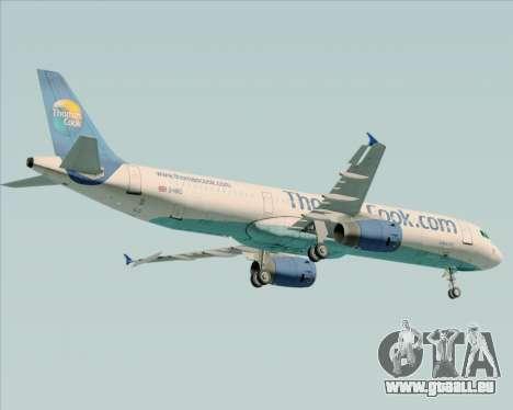 Airbus A321-200 Thomas Cook Airlines für GTA San Andreas Rückansicht
