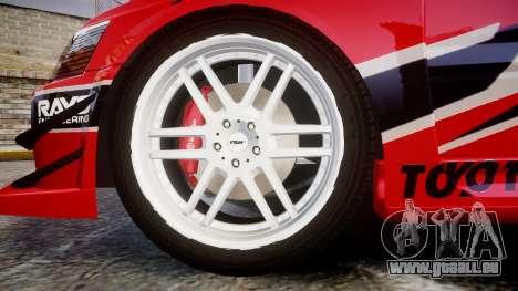 Mitsubishi Lancer Evolution IX Fast and Furious pour GTA 4 Vue arrière