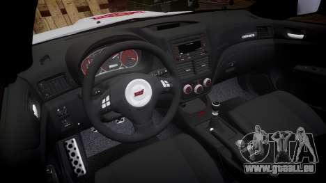 Subaru Impreza Cosworth STI CS400 2010 Custom für GTA 4 Rückansicht