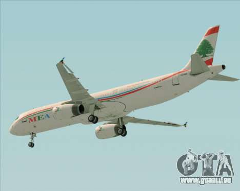 Airbus A321-200 Middle East Airlines (MEA) für GTA San Andreas Seitenansicht