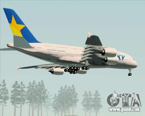 Airbus A380-800 Skymark Airlines pour GTA San Andreas vue intérieure