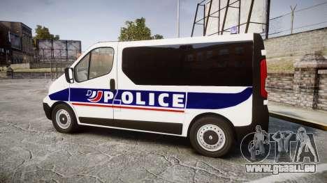 Renault Trafic Police Nationale pour GTA 4 est une gauche