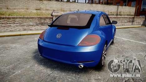 Volkswagen Beetle A5 Fusca pour GTA 4 Vue arrière de la gauche
