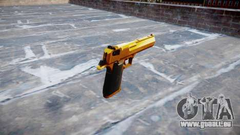 Pistolet IMI Desert Eagle Mk XIX Or pour GTA 4 secondes d'écran