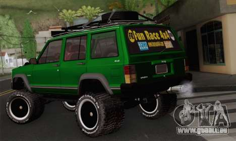 Jeep Cherokee 1998 Off Road 4x4 für GTA San Andreas linke Ansicht