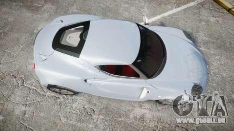 Alfa Romeo 4C für GTA 4 rechte Ansicht