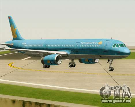 Airbus A321-200 Vietnam Airlines für GTA San Andreas zurück linke Ansicht