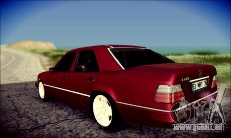 Mercedes-Benz E320 Delta Garage pour GTA San Andreas sur la vue arrière gauche