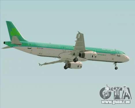 Airbus A321-200 Aer Lingus für GTA San Andreas obere Ansicht
