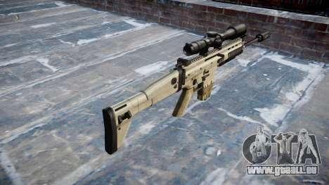 Fusil Mk 17 SCAR-H pour GTA 4 secondes d'écran