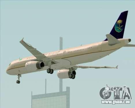 Airbus A321-200 Saudi Arabian Airlines für GTA San Andreas rechten Ansicht