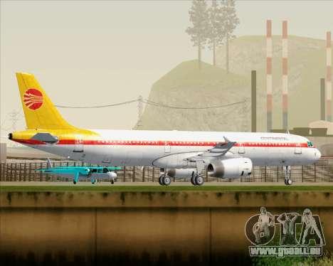 Airbus A321-200 Continental Airlines für GTA San Andreas Räder