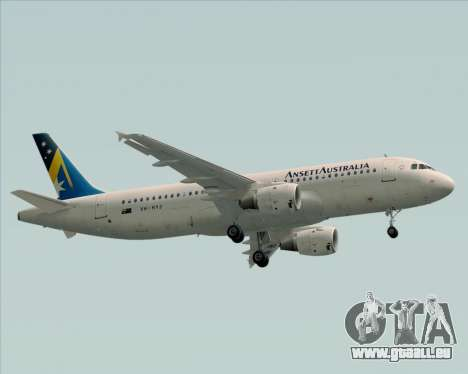 Airbus A320-200 Ansett Australia pour GTA San Andreas vue de côté