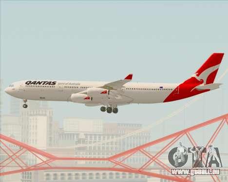 Airbus A340-300 Qantas pour GTA San Andreas vue de dessus