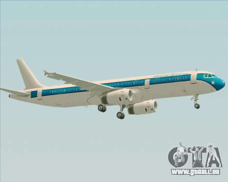Airbus A321-200 American Pacific Airways pour GTA San Andreas vue de dessous