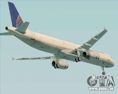 Airbus A321-200 Continental Airlines für GTA San Andreas rechten Ansicht