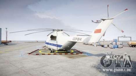 Mi-26 pour GTA 4 Vue arrière de la gauche