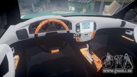 Toyota Land Cruiser Guardia Civil Cops [ELS] pour GTA 4 Vue arrière