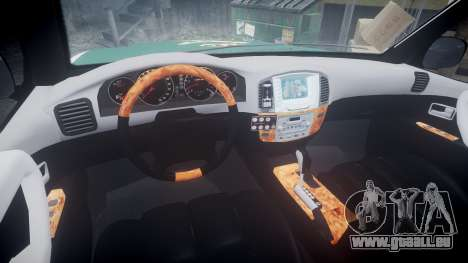 Toyota Land Cruiser Guardia Civil Cops [ELS] für GTA 4 Rückansicht