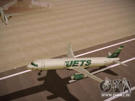 Airbus A321-232 jetBlue NYJets pour GTA San Andreas roue