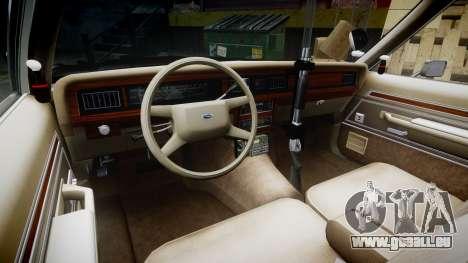 Ford LTD Crown Victoria 1987 Police CHP1 [ELS] pour GTA 4 Vue arrière