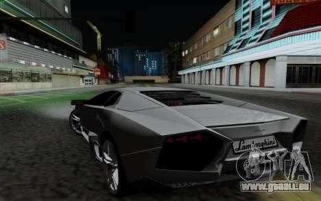 Lamborghini Reventon 2008 pour GTA San Andreas laissé vue