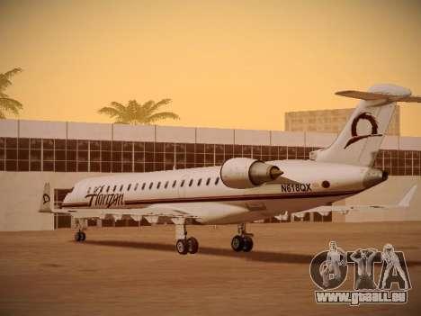 Bombardier CRJ-700 Horizon Air für GTA San Andreas Unteransicht