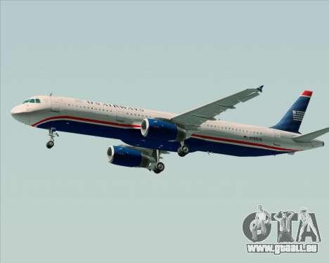 Airbus A321-200 US Airways für GTA San Andreas Seitenansicht