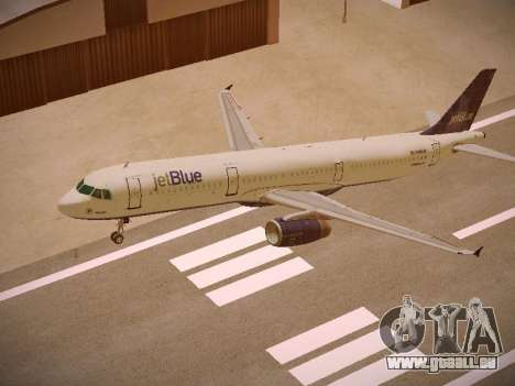 Airbus A321-232 jetBlue Batty Blue für GTA San Andreas obere Ansicht