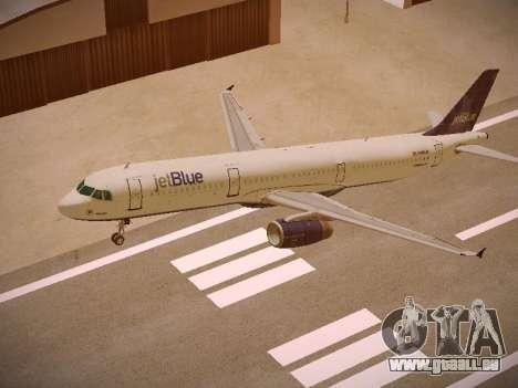 Airbus A321-232 jetBlue Batty Blue pour GTA San Andreas vue de dessus
