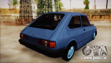 Fiat 147 pour GTA San Andreas laissé vue