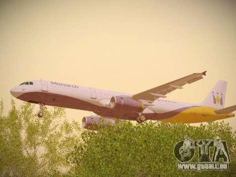 Airbus A321-232 Monarch Airlines für GTA San Andreas Innenansicht