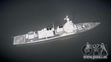 US Navy Destroyer Arleigh Burke für GTA 4 rechte Ansicht