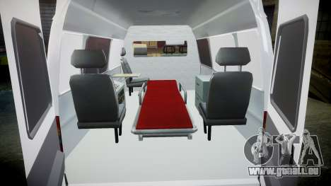 GAS-32214 Krankenwagen für GTA 4 Innenansicht