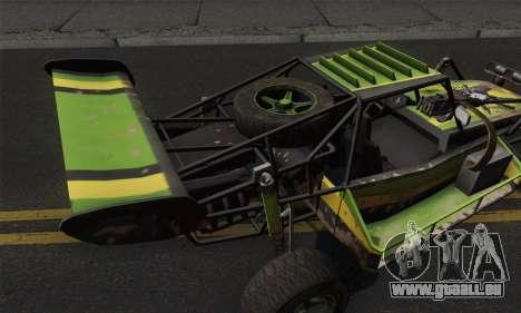 Devilbwoy Buggy pour GTA San Andreas sur la vue arrière gauche