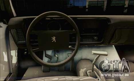 Peugeot 504 Drift Tuning für GTA San Andreas zurück linke Ansicht