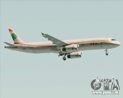 Airbus A321-200 Middle East Airlines (MEA) für GTA San Andreas rechten Ansicht