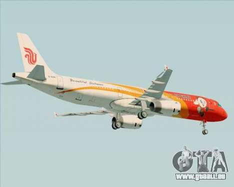 Airbus A321-200 Air China (Beautiful Sichuan) für GTA San Andreas Rückansicht