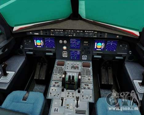 Airbus A321-200 Continental Airlines für GTA San Andreas Innen