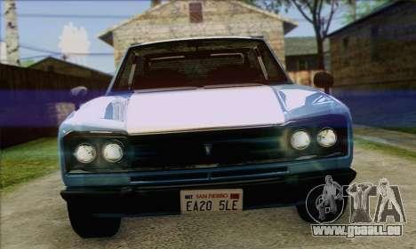 Vulcar Warrener V2 pour GTA San Andreas sur la vue arrière gauche